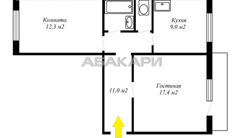 2-комнатная Академгородок Академгородок мкр-н за 20000 руб/мес фото 7