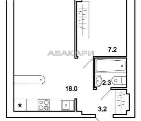 1-комнатная 1-я Хабаровская ГорДК ост. за 16000 руб/мес фото 3