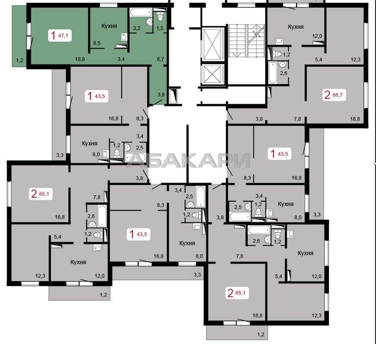 1-комнатная Уютный переулок БСМП ост. за 11000 руб/мес фото 1