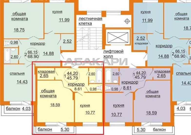 1-комнатная Абытаевская  за 15500 руб/мес фото 9