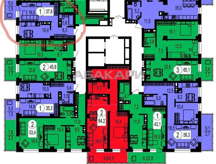 1-комнатная Ярыгинская набережная Пашенный за 15000 руб/мес фото 8