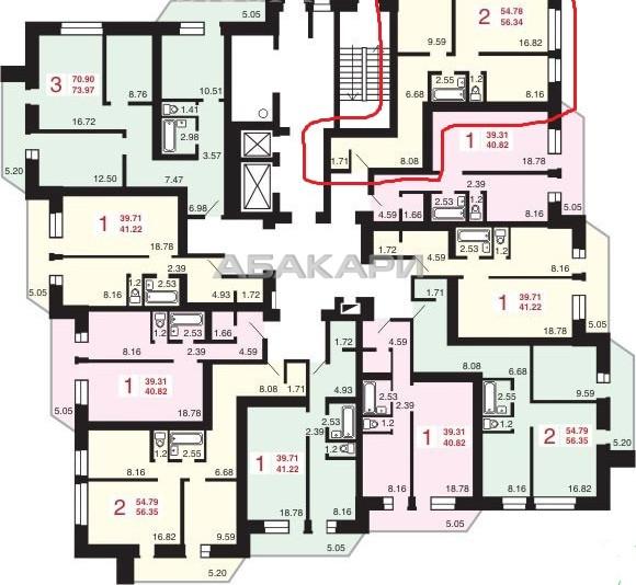 2-комнатная Вильского БСМП ост. за 17000 руб/мес фото 19
