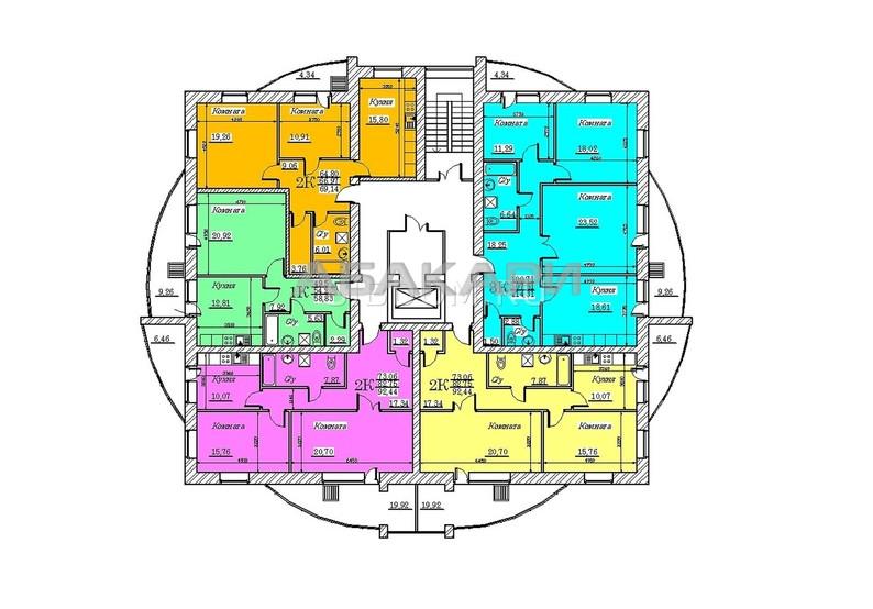1-комнатная Чистопрудная Ветлужанка мкр-н за 13000 руб/мес фото 3