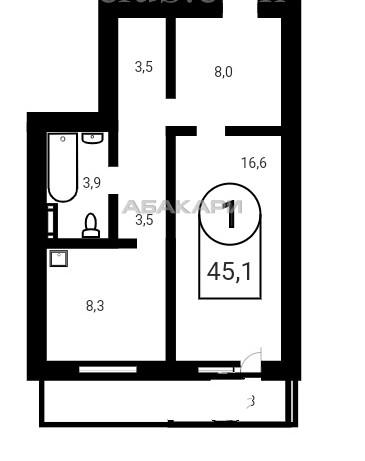 1-комнатная Апрельская Образцово за 16000 руб/мес фото 3