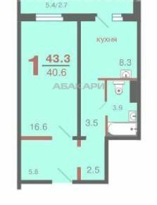 1-комнатная Апрельская Образцово за 15000 руб/мес фото 1